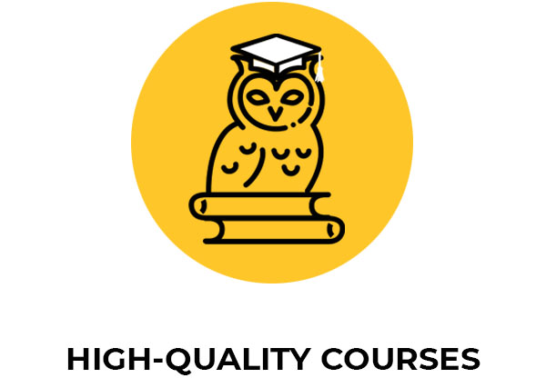 high quality courses icon